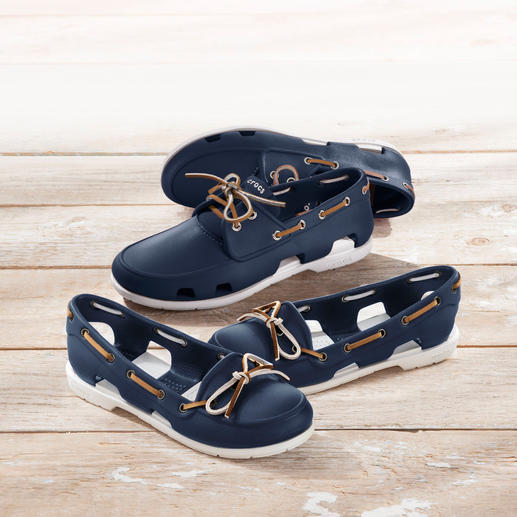 Crocs™ Damen- oder Herren-Bootsschuh - Der Bootsschuh von Crocs™/USA: Bequem wie ein Kunststoff-Clog. Aber fein genug für den Yacht-Club.