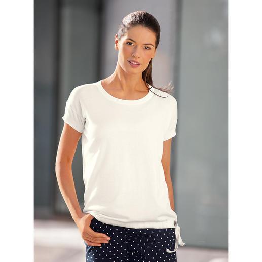 John Smedley 30-Gauge-T-Shirt, Damen, Weiß Viel angenehmer als gewöhnliche T-Shirts. Aber genauso vielseitig zu kombinieren. Von John Smedley/England.