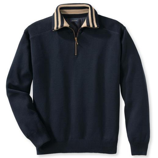 Wetter-Pullover, Kontrastkragen Streifen Warm, Wasser abweisend, winddicht.