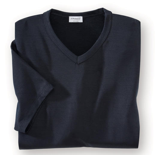 Zimmerli Micro-Modal®-Wäsche Seidenweiches MicroModal®: Für immer weiß. Für immer schwarz. Perfekt als Schlaf- oder Unterzieh-Shirt.