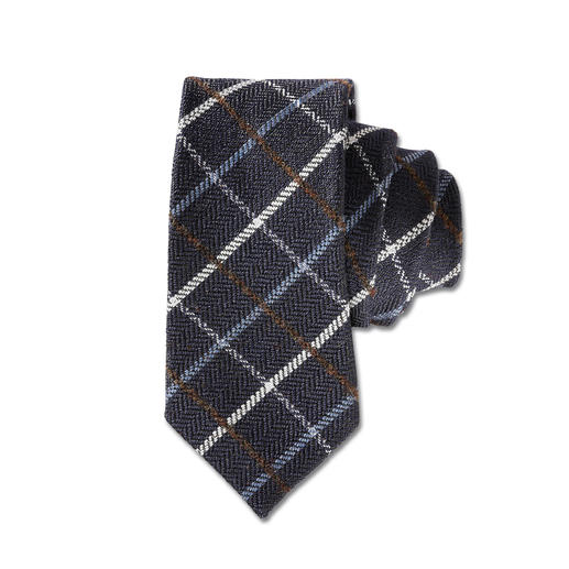 Laco Karo-Wollkrawatte, Grau - Selten ist eine karierte Krawatte so stilvoll und dezent. Von Laco/Hamburg, seit 1838.