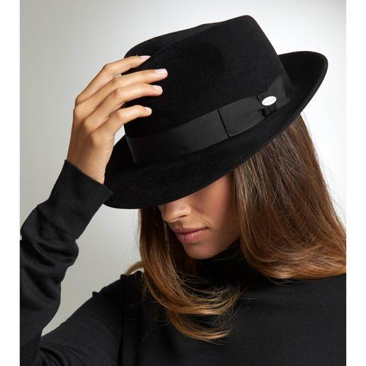 Mayser Damen-Fedorahut Die neue Extravaganz: Maskuline Hüte. Am besten vom Spezialisten: Mayser, Hutmanufaktur seit 1800.