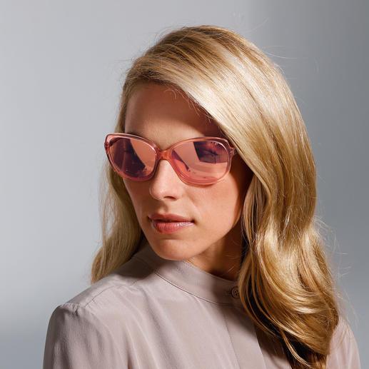 Strenesse Retro-Sonnenbrille Die Retro-Sonnenbrille - eine große Brillenform, die auch schmalen Gesichtern schmeichelt. Von Strenesse.