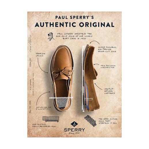 Sperry Top-Sider Original Bootsschuh Das Urmodell aller Bootsschuhe. Handgenäht von Sperry/USA, seit 1935.