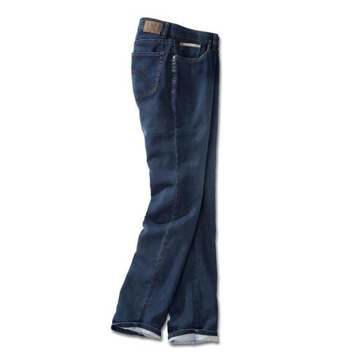 24 Stunden-Jeans Die Optik einer klassischen Jeans. Und die Bequemlichkeit einer Jogginghose. Echte Indigofärbung bringt authentischen Denim-Look.