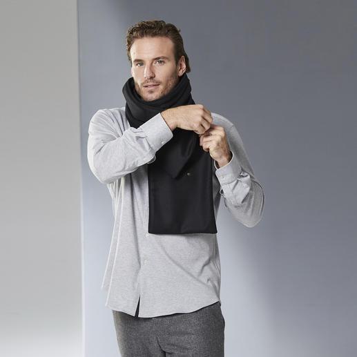 les D'Arcs Knöpfschal Elegant zu drapieren, sicher zu fixieren. Der knöpfbare Doubleface-Schal von les D'Arcs.