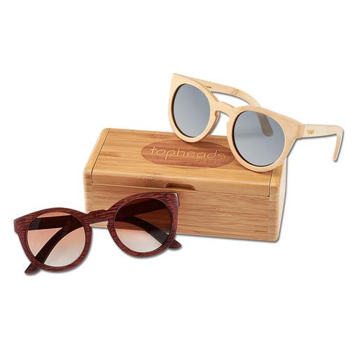Topheads Bambus-Sonnenbrille Leichter. Robuster. Interessanter. Die Bambus-Brille von Topheads toppt die angesagten Holz-Shades.