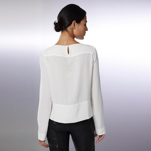 "Strenesse Seiden-Shirt-Bluse, Langarm Sportiver Schnitt. Elegantes Material. Strenesse hat die perfekte Bluse zum Thema ""Sporty-Elegance""."