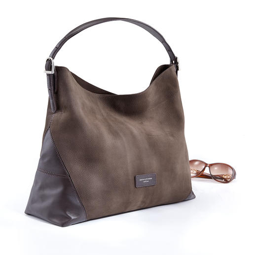 Aspinal Hobo-Bag Knautschweiches italienisches Leder. Hochwertige britische Verarbeitung. Und ein sehr erfreulicher Preis.