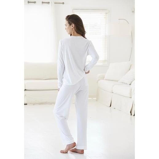 Cornelie Weiss Loungewear-Anzug Perfekt für den Sommer: der weiße Loungewear-Anzug aus luftigem Baumwoll/Modal-Piqué.
