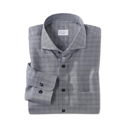 Dorani Glencheck-Hemd - Viel interessanter als ein unifarbenes Hemd. Aber genauso vielseitig zu kombinieren. Der Klassiker: schwarz-weißer Glencheck.