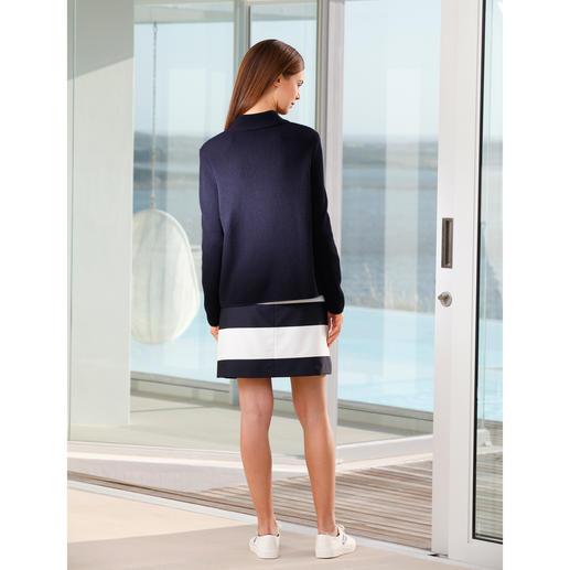 Belle ile-Strickjacke Perlfang Edel wie eine Couture-Jacke. Vielseitig wie eine Jeansjacke. Und bequem wie eine Strickjacke.