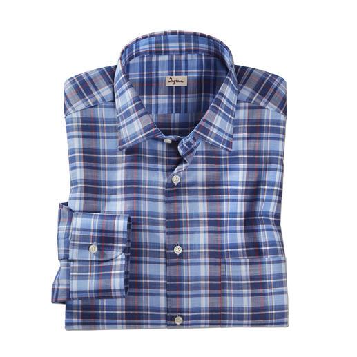 """Ingram Leinenhemd """"Smart Casual"""" Das Karohemd von Ingram. Aus Leinen und merzerisierter Baumwolle. Genau richtig zum Sakko und Smart-Casual-Look."""