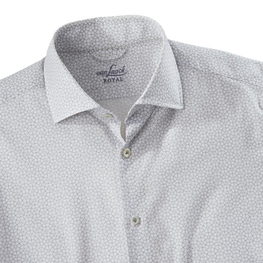 van Laack Krawattendessin-Hemd Interessanter als uni. Dezenter als die meisten Dessins. Modisches Krawattenmuster, selten filigran und monochrom.