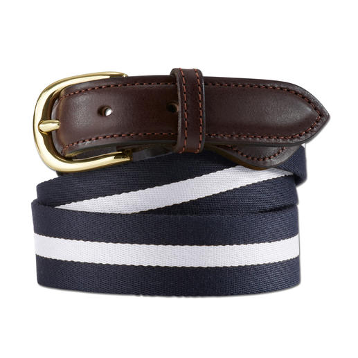 Smart Turnout Regimental-Belt - Der smarte unter den sommerleichten Gürteln. Authentische Regimental-Stripes made in England. Von Smart Turnout.