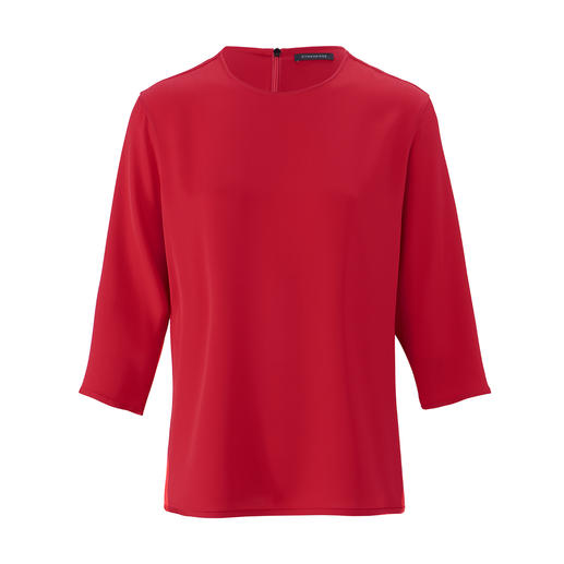 "Strenesse Seiden-Shirt-Bluse Sportiver Schnitt. Elegantes Material. Strenesse hat die perfekte Bluse zum Thema ""Sporty-Elegance""."