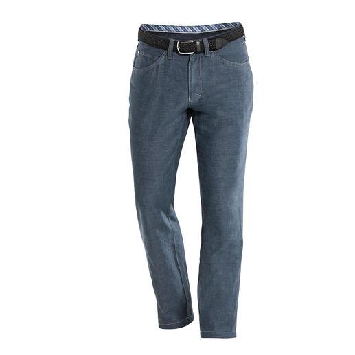 Leinen/Baumwoll-Five-Pocket Endlich: eine luftige Leinenhose mit dem knackigen Sitz einer Jeans. Dazu formstabil, knitterarm und blickdicht.