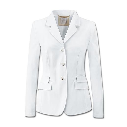 Waschbarer weißer Blazer - Dieser weiße Blazer begleitet Sie überallhin. Nur nicht in die Reinigung. Einfach waschen, trocknen, tragen.