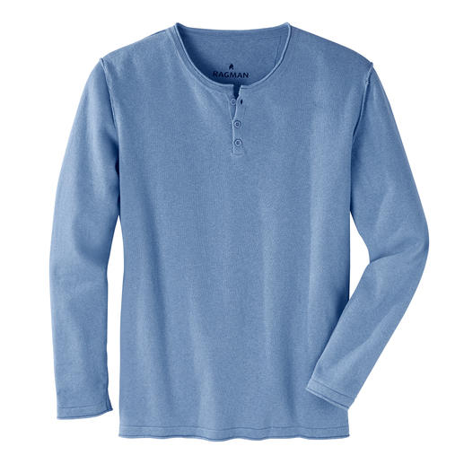Ragman Casual-Pullover Feinstrick aus Leinen und Baumwolle: So stilvoll kann ein Casual-Look sein. Vom Shirt-Spezialisten Ragman.