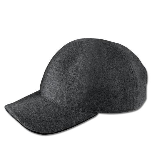 Lagerfeld Wollfilz-Baseballcap Die klassische Baseball-Kappe, veredelt von Lagerfeld.