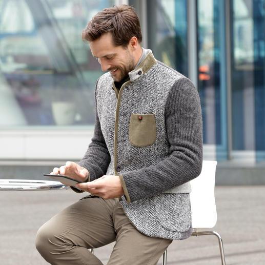 Luis Trenker Materialmix-Janker - Mode-Klassiker Janker, modernisiert von Luis Trenker. Schlanker Schnitt. Softe Stoffe im aktuellen Material-Mix.