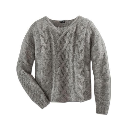 Alpaka-Grobstrickpullover Slim Line Schwer zu finden: der schlanke, leichte unter den angesagten Grobstrick-Pullovern.