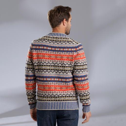 Eribé Fair-Isle-Herrenpullover Der original Fair-Isle-Pullover: Niemals aus der Mode- und doch so schwer zu finden. Aus echter Shetland-Wolle.