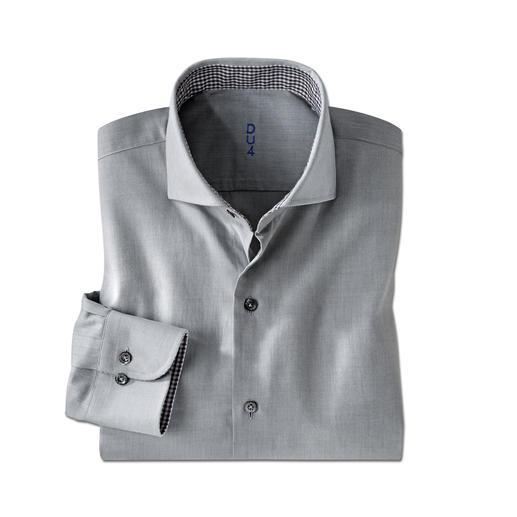 Claude Dufour Light-Flanell-Hemd - Seltener Brushed-Twill: Flanell-Charakter auf leichtem Hemdenstoff. Das perfekte Hemd zum semi-korrekten Jersey-Sakko.