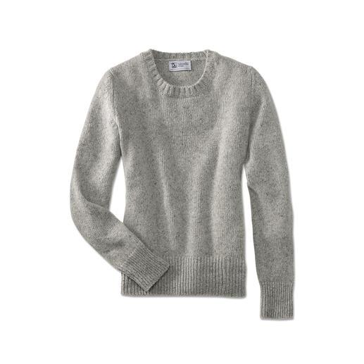 Johnstons 4-Ply Kaschmir-Tweed Damen-Pullover - So selten, so soft: weicher Donegal-Tweed-Pullover aus 100 % feinstem 4-Ply-Kaschmir.