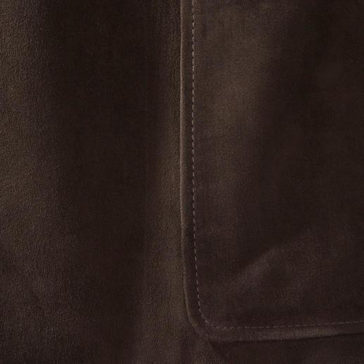 Arma Lammvelours-Weste oder -Sakko Selten gibt es zum Ledersakko die exakt passende Weste. Feinstes Lammvelours in Premium-Qualität.