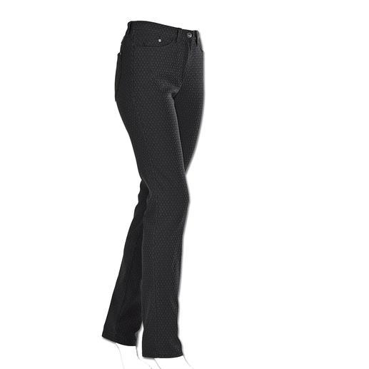"""RAPHAELA-BY-BRAX Zauberbund-Hose """"Krawatten-Dessin"""" Ihre wohl bequemste Five-Pocket-Hose: die Zauberbund-Hose von RAPHAELA-BY-BRAX. Nicht sichtbare Bundweiten-Reserve plus Power-Stretch-Effekt."""