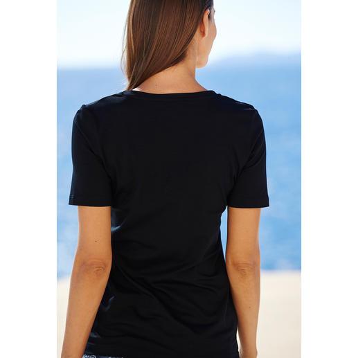 Kurzarm- oder Langarm-Basic-Shirt swiss+cotton Warum ein Basic-Shirt für 39 Euro ein Schnäppchen sein kann. swiss+cotton ist form- und farbtreu, geschmeidig glatt und dehnbequem.