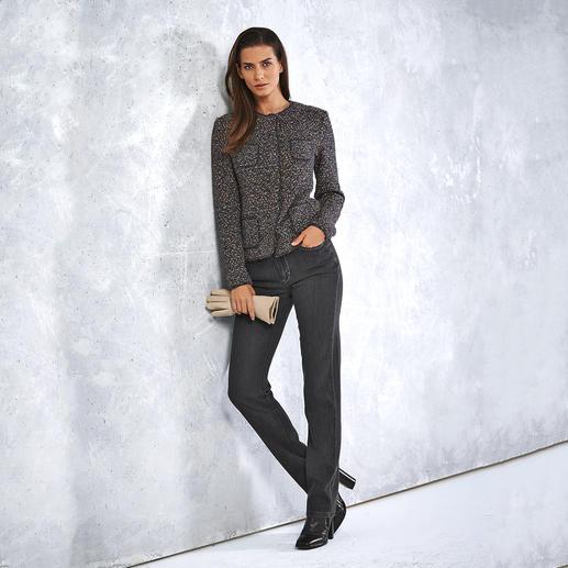 ANNECLAIRE Multicolor-Bouclé-Cardigan So bequem und luftig kann eine elegante Bouclé-Jacke sein. Gestrickt statt gewebt. Von ANNECLAIRE. Made in Italy.