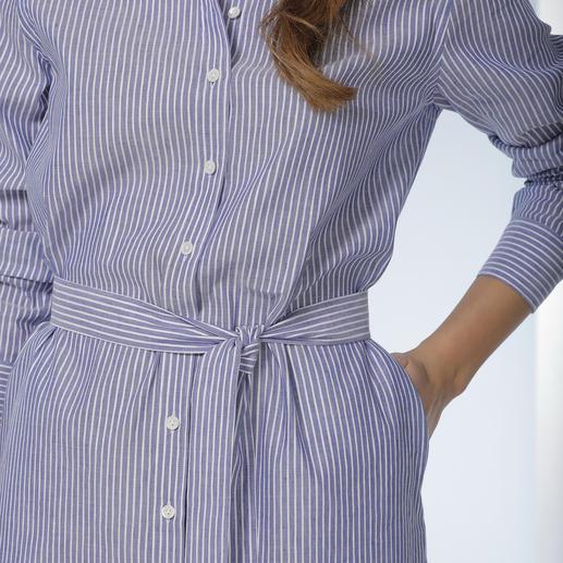 van Laack Blusenkleid Das Hemdblusenkleid ist wieder en vogue. Besonders gut gelungen bei van Laack.