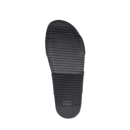 Lagerfeld Kalbleder-Sandale Die stilvolle Art Sandalen zu tragen. Puristisches Lagerfeld-Design. Schlichtes Schwarz. Edles Kalbleder.