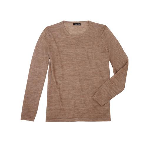 Baby-Alpaka-Seiden-Pullover - Federleicht und doch strapazierfähig: der Ganzjahres-Basic-Pullover aus Baby-Alpaka und Seide.