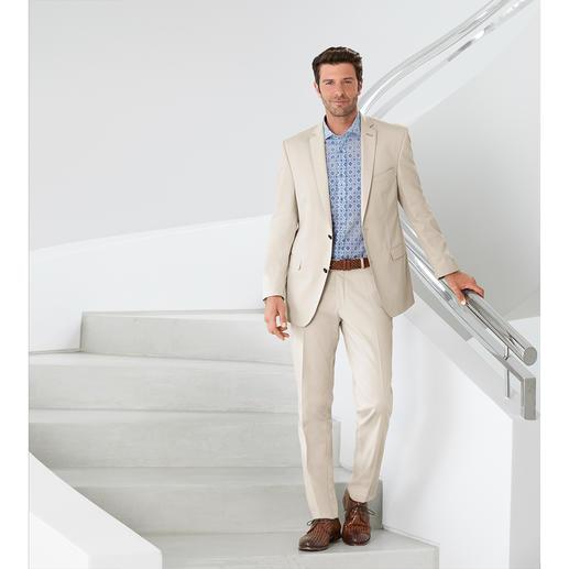 Carl Gross Baumwoll-Anzug Ceramica Der ideale Anzug für Business und Reise: sommerliches Baumwoll-Tuch – und doch kaum Knitter.