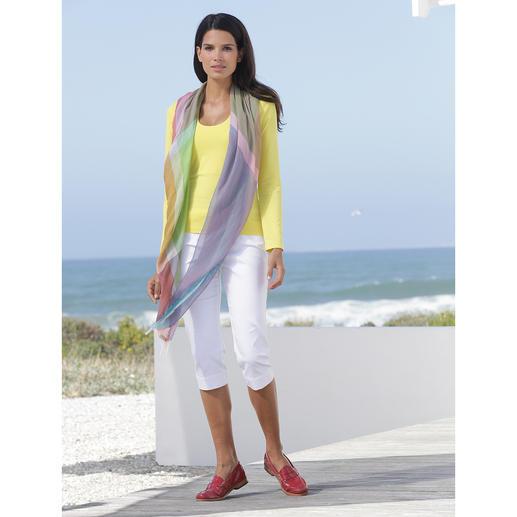 Ancini 14-Farben-Tuch 14 Farben in einem Tuch – für unendlich viele Kombinationen. Made in Italy. Von Ancini.