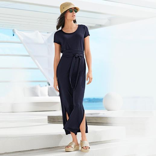 Das selten elegante Jersey-Kleid. Das selten elegante Jersey-Kleid. Seidiger Tencel-Jersey. Aktuelle Maxi-Silhouette.