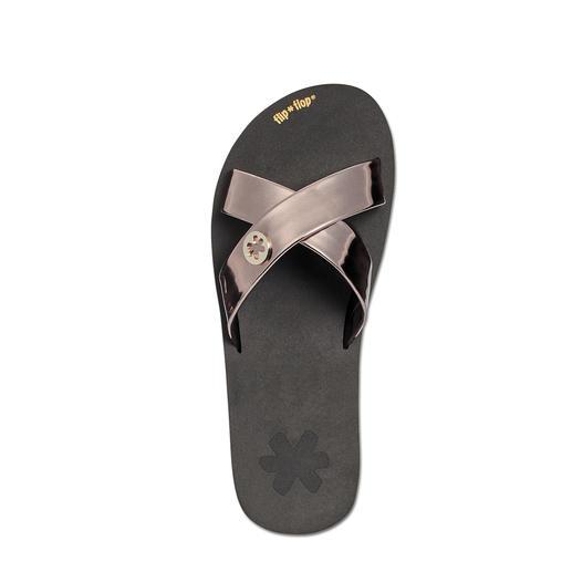 Flip Flop Cross-Pantolette Der Tragekomfort echter Flip Flops – aber viel eleganter.