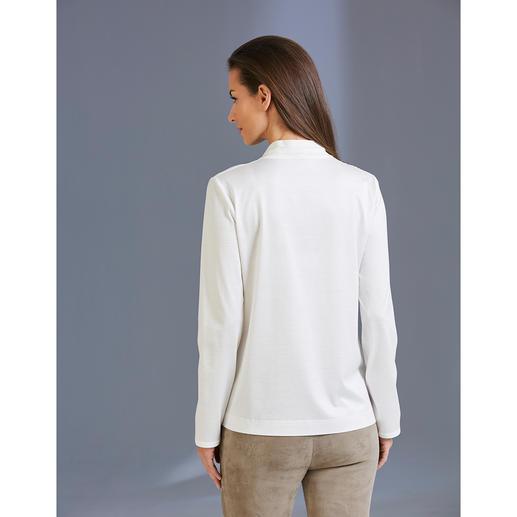 Strenesse Blusen-Shirt Elegant wie eine Bluse. Bequem wie ein Shirt. Raffinierter Mix aus Jersey und Satin. Von Strenesse.