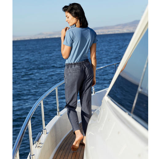Myths Cool Wool-Damenhose Lässiger Vintage-Look in edler italienischer Schurwoll-Qualität. Cool Wool, gewebt von Marzotto.