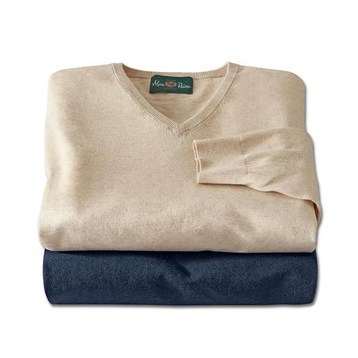 Alan Paine Leinen-Baumwoll-Pullover Perfekt für den Sommer. Ideal fürs ganze Jahr.