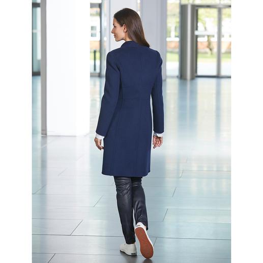 Seventy Woll-Blazermantel Der blaue Blazer-Mantel im modisch zeitgemäßen Schnitt. Hochwertig umgesetzt vom Edel-Label Seventy, Italien.