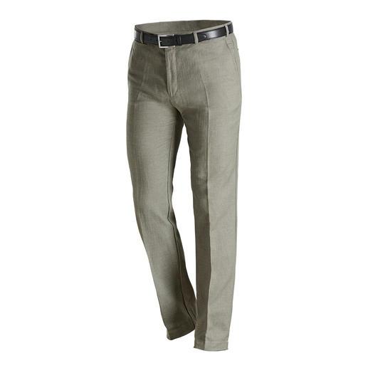 Hoal Jägerleinen-Hose Jetzt tragen Sie Leinen auch an kühleren Tagen. Voluminöse 310 g/m² mit weich angerauter Oberfläche.