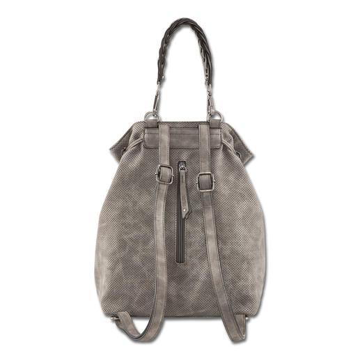 Suri Frey Rucksack/Beuteltasche Elegante Beuteltasche und trendiger Rucksack in einem. Im Griff von Leder kaum zu unterscheiden. Aber viel leichter.