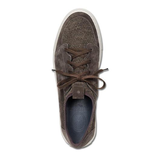 Andrea Zori Leder-Strick- Sneaker Lässig wie ein Sneaker, bequem wie eine Socke: der Ledersneaker mit Strick-Einsatz. Made in Italy. Von Andrea Zori.