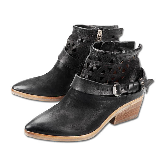 A.S.98 Vintage-Stiefelette Genau die richtige Stiefelette zu Kleidern, Röcken und Hosen. Und fürs ganze Jahr.