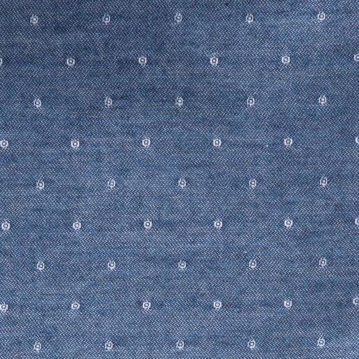 Flanell-Denim-Hemd So modern kann ein Flanellhemd sein. Denim-Optik mit Jacquard-Dessin. Von Ingram.