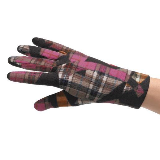 Ixli Fleece-Handschuhe Die Fleece-Handschuhe von Ixli, Frankreich. Fröhlich bunt statt langweilig uni.
